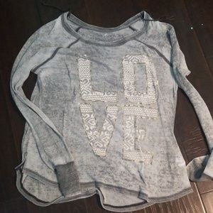 American Eagle Love Long Sleeve Top